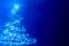 Abstract blue christmas tree Royalty Free Stock Images