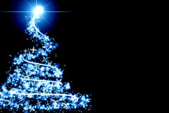 Abstract blue christmas tree Royalty Free Stock Photo