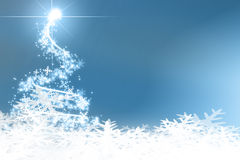 Abstract blue christmas tree Royalty Free Stock Photography