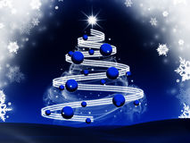 Abstract blue christmas tree background Royalty Free Stock Photography