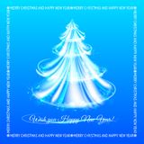Abstract blue christmas tree background. Royalty Free Stock Images