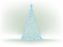 Abstract Blue christmas tree. EPS 8 Stock Images
