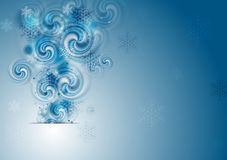 Abstract blue Christmas vector background Royalty Free Stock Photo