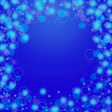 Abstract blue circle background Stock Images