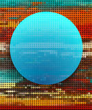 Abstract blue circle on colorful dot background Stock Images