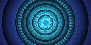 Abstract blue circle light power energy technology design modern futuristic background vector. Illustration Royalty Free Stock Photo