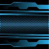 Abstract blue circle mesh in metal design modern futuristic background vector. Illustration Royalty Free Stock Images