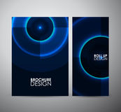 Abstract blue circle pattern. Graphic resources design template. Royalty Free Stock Photos