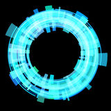 Abstract blue circle. Raster. Raster royalty free illustration