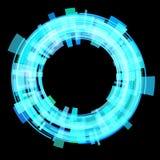 Abstract blue circle. Raster. Stock Image