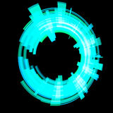 Abstract blue circle. Raster. Stock Photography