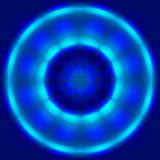 Abstract blue circle spin and move technology background Royalty Free Stock Photos