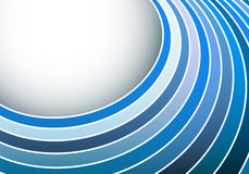 Abstract blue circle stripes background Stock Image