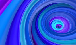Abstract blue circle swirl background Stock Photo