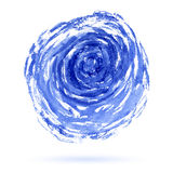 Abstract blue circle watercolor background Stock Image