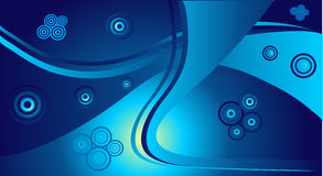 Abstract blue circles Stock Photo