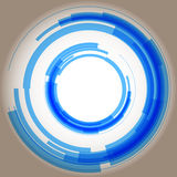 Abstract blue circles. Raster. Raster royalty free illustration