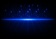 Abstract blue with circuit future technology background Royalty Free Stock Photos