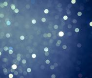 Abstract blue circular bokeh background Stock Photography