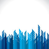 Abstract blue city building royalty free illustration