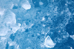 Abstract blue closeup ice texture Royalty Free Stock Photo