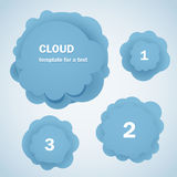 Abstract blue clouds with digits Stock Photo