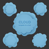 Abstract blue clouds Royalty Free Stock Image