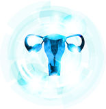 Abstract blue color female uterus Stock Image