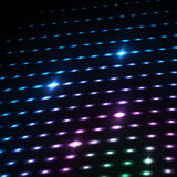 Abstract blue color neon dots, dotted technology background. Glowing particles, led light pattern, futuristic texture Stock Photo
