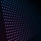 Abstract blue color neon dots, dotted technology background. Glowing particles, led light pattern, futuristic texture Royalty Free Stock Photo