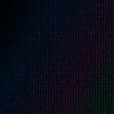 Abstract blue color neon dots, dotted technology background. Glowing particles, led light pattern, futuristic texture Stock Photography