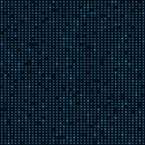 Abstract blue color neon dots, dotted technology background. Glowing particles, led light pattern, futuristic texture Stock Photos
