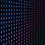 Abstract blue color neon dots, dotted technology background. Glowing particles, led light pattern, futuristic texture. Digital vector design Royalty Free Stock Image