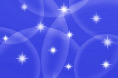 Abstract blue color with stars Stock Images