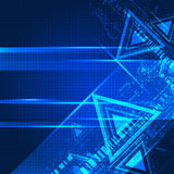 Abstract blue color technological background. Stock Image