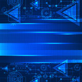 Abstract blue color technological background. Stock Images