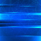 Abstract blue color technological background. Royalty Free Stock Photography