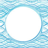 Abstract blue color water wave frame background Stock Photography