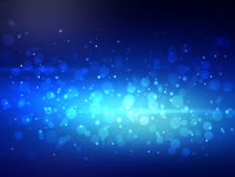 Abstract blue colorful bokeh background. Festive Royalty Free Stock Image