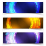 Abstract blue colorful website header or banner. Abstract blue colorful website  header or banner set vector Stock Photos