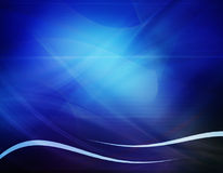 Abstract blue composition. Abstract blue waves background, illustration Royalty Free Stock Photos