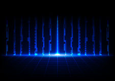 Abstract blue concept technology with binary code design background Royalty Free Stock Photos