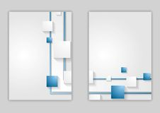 Abstract blue corporate tech flyer design Royalty Free Stock Photo