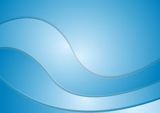 Abstract blue corporate wavy background Royalty Free Stock Images