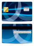 Abstract blue credit card Royalty Free Stock Image