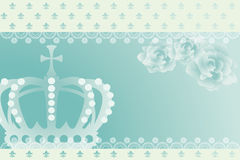 Abstract blue crown background Stock Photo