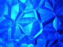 Abstract blue crystal background Stock Photography