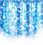 Abstract blue crystal background. Royalty Free Stock Photo