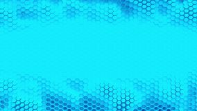 Abstract blue crystallized background. Honeycombs move like an ocean. With place for text or logo. Loop stock video