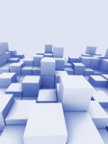 Abstract blue cubes Royalty Free Stock Photography